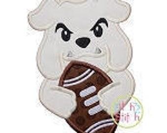 Personalized Football Team Mascot Bulldog Elephant Tiger Hound Dog Gator Applique Shirt or Onesie