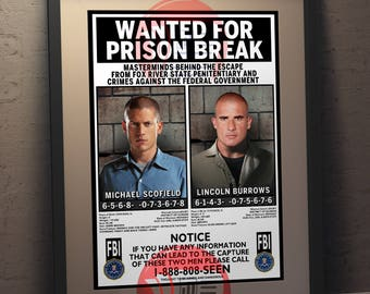 Prison Break - Faux Wanted Poster