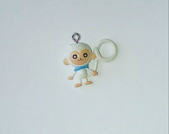 X 1 white kawaii monkey