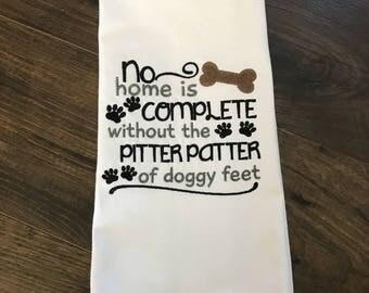 Doggy Feet Kitchen Towel
