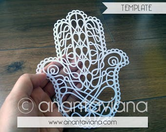 Papercut Template Commercial | Hamsa | Commercial Use | Design by Anantaviana