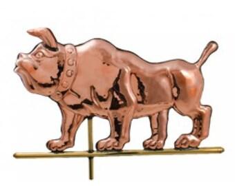 Bulldog Copper WEATHERVANE Old Fashioned Bull Dog Dawgs GA Decor NEW