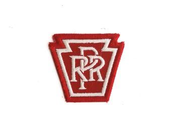 "Vintage PRR Pennsylvania Railroad Train Keystone State Embroidered Patch 2"" x 2.25"""