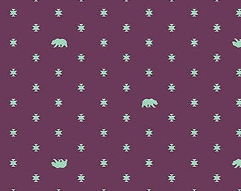 1/2 Yard - Spirit Animal - Bear Hug - Lunar - Tula Pink - FreeSpirit - Fabric Yardage - PWTP101.LUNAR