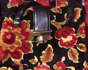 Vintage Red and Gold Purse
