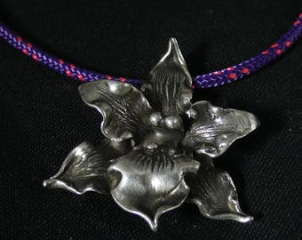 Silver Orchid pendant
