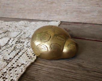 Brass Ladybug Paperweight