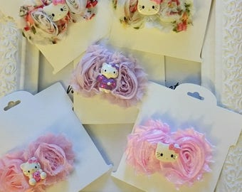 Hello Kitty hairbows - Party Favors