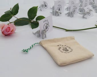 Dinosaur magnetic place card holders and wedding favours in one