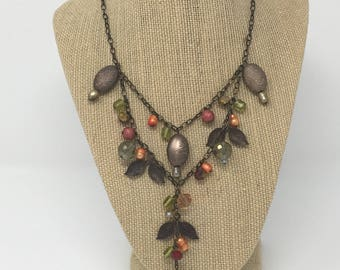 Y necklace and earrings
