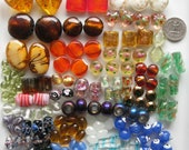 RESERVED FOR REBECCA - 155 Pcs Bulk Mixed Beads | Murano Style Glass | Lampwork Style Glass | Glass Beads | Beads for Jewelry Making
