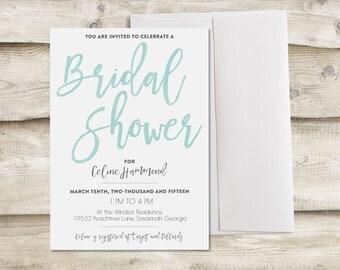 Bridal Shower Invitation, Shower the Bride Invitation, Watercolor Bridal Shower Invitation, Couples Shower, Brunch with the Bride Invitation