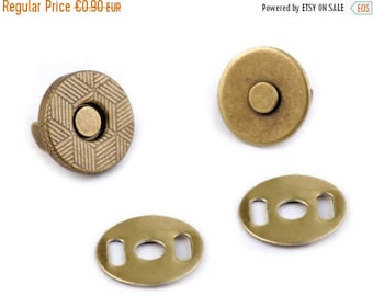 Summer Sale Small magnetic clasp 10 mm bronze