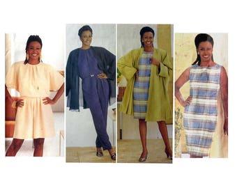 """Vogue 2521 Women's Dress, Jumpsuit, Jacket, Coat Sewing Pattern Misses Size 6, 8, 10 Bust 30 1/2, 31 1/2, 32 1/2"""" Uncut"""