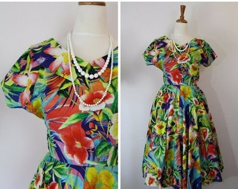 50% OFF One only! 1950's dress / vintage reproduction dress / size S / vintage 50's dress / 34 bust /