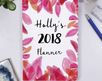 2018 Notebook for her - New Year Planner Notebook - Personalised Notebook - Birthday Gift For Her - Personalised 2018 Notebook