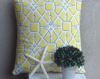 Yellow Trellis Pillow 18x18