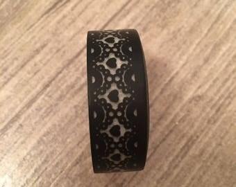 Black lace washi tape black hearts lace washi tape