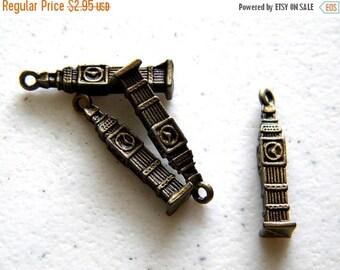 HALF PRICE 4 Bronze Big Ben Charms