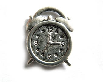 8 Silver Alarm Clock Charms
