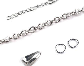Kit for silver silver metal chain light
