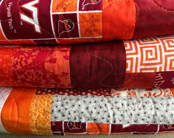 Twin size Virginia Tech quilt - available now.