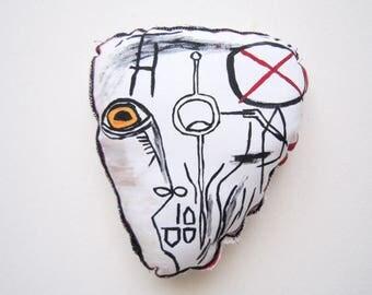 Valentine's day Basquiat art gift home decoration wall art gift for her him birthday gift graduation anniversary art gift fabric sculpture