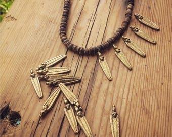 Charm Brass 5/10/20 PC Tribal brass, charm 30 mm, art supplies, metal beads, bohemian, metal charm, Antique Brass artofgoddess