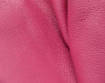 "Leather Cow Hide Scrap 1 pound Imperial Posh Pink/Totally Teal ""Signature"" flat grain DE-59223 (Sec. 5,Shelf 1,B)"