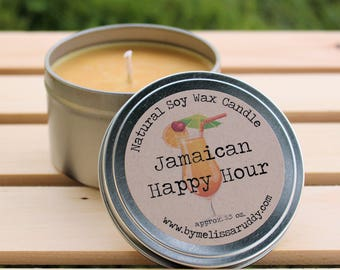 Jamaican Happy Hour Soy Wax Candle