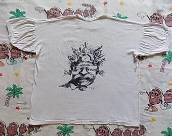 Vintage 80's Sight & Sound Ringer T shirt, size M/L British Film Magazine back graphic