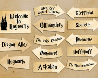 Resource image with harry potter decorations printable