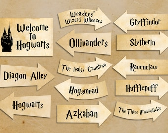 Harry Potter party printables Harry Potter party decorations Instant download party décor harry potter clipart harry potter clip art