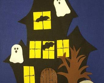 Halloween haunted house felt board set