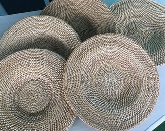 Wicker Circular Placemat Set of 10