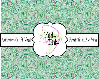 Beautiful Paisley Craft Vinyl and Heat Transfer Vinyl Pattern 443