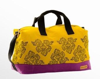Weekender Bag, Canvas Weekender, Duffle Bag, Sports Bag, Gym Bag, Vegan Bag, Travel Bag, Luggage, Cabin Bag, Beach Bag, Gift For Women, Him