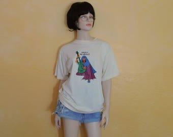Rare Vintage India Remixed T Shirt~ Karma Souvenir~Adult Large ~Dimensions Below~