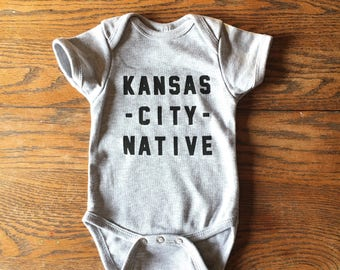 Kansas City Native- Grey Onesie