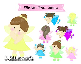 Pastel Fairies Clipart | PNG | Personal Use | Instant Download