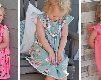 CLOSE OUT SALE, toddler Summer dress, floral dress, pineapple dress,  18 months-4T