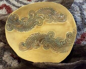 Golden Wave Tapas Plate