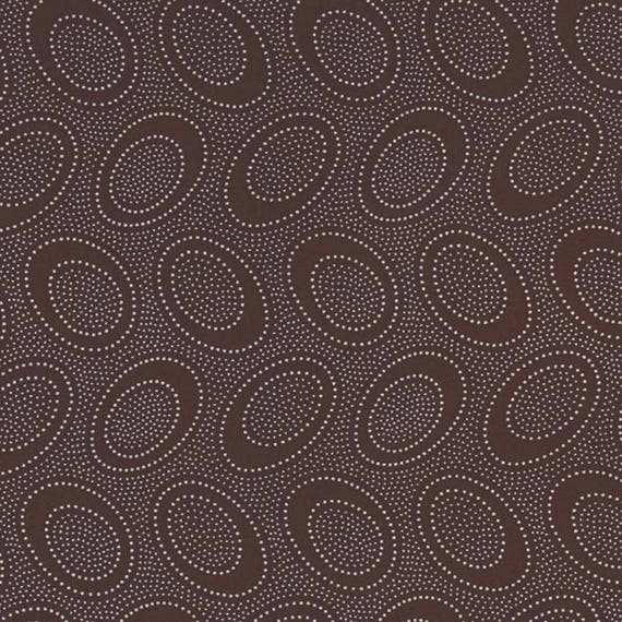 ABORIGINAL DOT Chocolate Brown GP71 Kaffe Fassett Sold in 1/2 yd increments