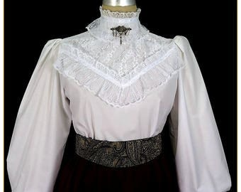 Lace Broadcloth Victorian Blouse