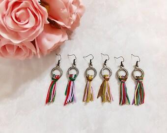 Jolly Tassel Collection | Antique Bronze Boho Earrings, Tassel Earrings, Bohemia Earrings, Sister Earrings, Friendship Earrings