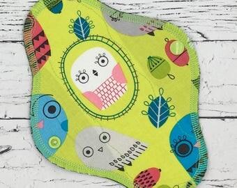 "8"" Liner/everyday use cloth menstrual pad W/windpro fleece layer, mama cloth, cloth pad"