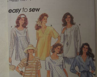 Simplicity 8853 Misses Pullover Top Pattern Sizes XS, S, M (6-16)