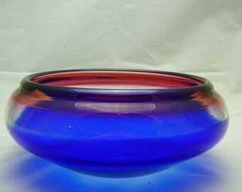 Red Clear and Blue Encalmo Bowl