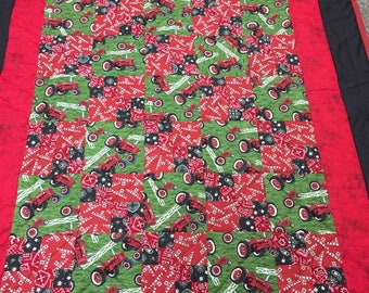 Twin size Farmall tractor quilt