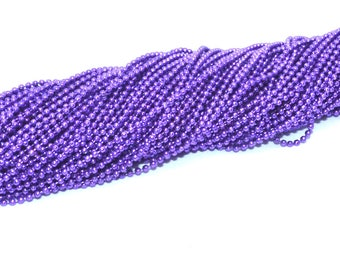 Ball chain 1.5 mm purple
